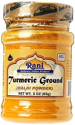 Rani Turmeric (Haldi) Root Powder Spice, (High Curcumin Content) 3oz (85g) ~ All Natural   100% Pure, Salt Free   Vegan   Gluten Friendly Ingredients   NON-GMO   Indian Origin