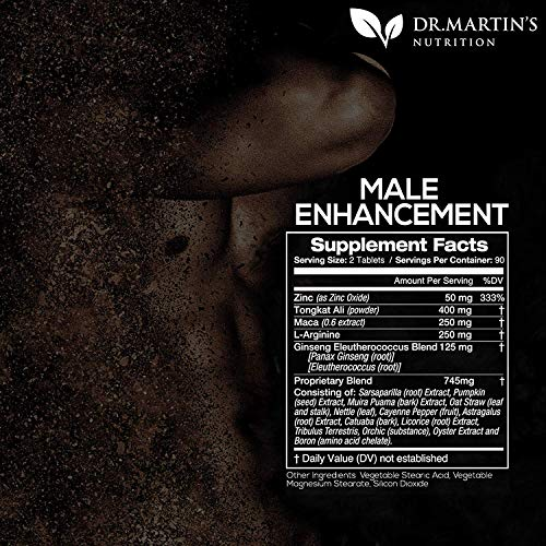 Male Enhancement Supplement | 180 Capsules | 3 Month Supply | Boosts Energy, Testosterone, Endurance & Enhances Muscle Growth | with Gingseng, Maca, Tongkat Ali | Healthy Weight Loss and Fat Burning 3