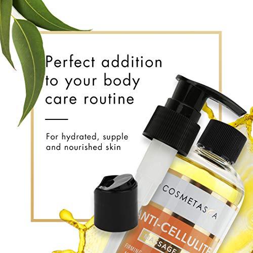 Anti-Cellulite Massage Oil, Gel & Mitt - 100% Natural Cellulite Treatment with Hot Cream Massage Gel, Oil & Massager - Penetrates Skin to Break Down Fat Tissue - Firm, Tone, Tighten & Moisturize Skin 8