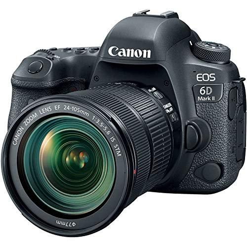 Canon EOS 6D MK II - Cámara digital réflex de 26.2 MP (pantalla táctil de 3.0'', Wifi, Bluetooth, Dual Pixel CMOS AF, vídeos time-lapse en 4K) negro - kit cuerpo con objetivo EF 24-105 IS STM