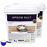 NortemBio Sel d'Epsom 2x6 Kg. Source concentrée de Magnésium, Sel 100% Naturel. Bain et Soins Personnels. E-Book Inclus.