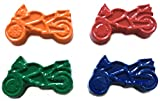 MinifigFans 48 Motorcycle Crayons - Birthday Party Favors - 12 Sets of 4 Crayons - Made in The USA
