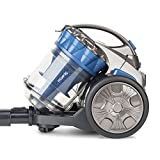 H.Koenig Aspirateur sans sac Multicyclonique traineau STC68 Compact+ Spécial Animaux bleu, Classe énergétique AAA, filtre HEPA, Silencieux, Puissant, Inclus brosse, suceur plat 2 en 1, brosse turbo
