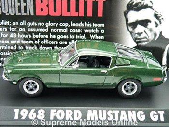 FORD MUSTANG GT BULLITT MODEL CAR 1968 1:43 GREENLIGHT GREEN SPORTS BULLIT T312Z