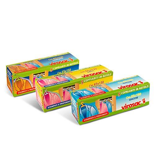 VIROSAC Kit Copriabiti in Scatola, 1 Confezione da 5 Pezzi 65x100 + 1 Confezione da 5 Pezzi 65x130 + 1 Confezione da 5 Pezzi 65x150