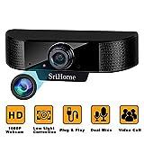 ENONEO Webcam 1080P HD Webcam PC avec Microphone Antibruit Appels Vidéo et...