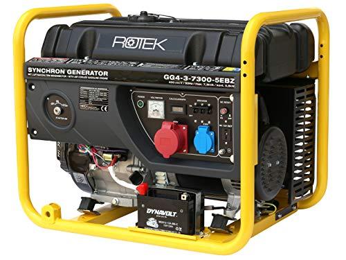 Rotek Benzin Stromerzeuger GG4-3-7300-5EBZ (7,3 kVA / 400V 50Hz 3-phasig)