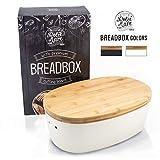 'Dolce Mare Boîte à pain en bambou - Jolie boîte à pain - Caisse à pain...