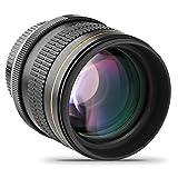 Opteka 85mm f/1.8 Manual Focus Aspherical Medium Telephoto Lens for Canon EOS 80D, 70D, 60D, 60Da, 50D, 7D, 6D, 5D, 5DS, 1Ds, Rebel T6s, T6i, T6, T5i, T5, T4i, T3i, T3, T2i and SL1 Digital SLR Cameras