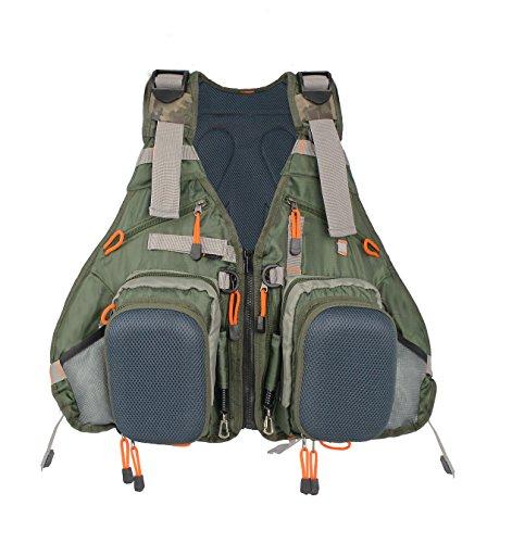 Gillet et sac à dos pour pêche à la mouche pour homme et femme réglable - Kylebooker