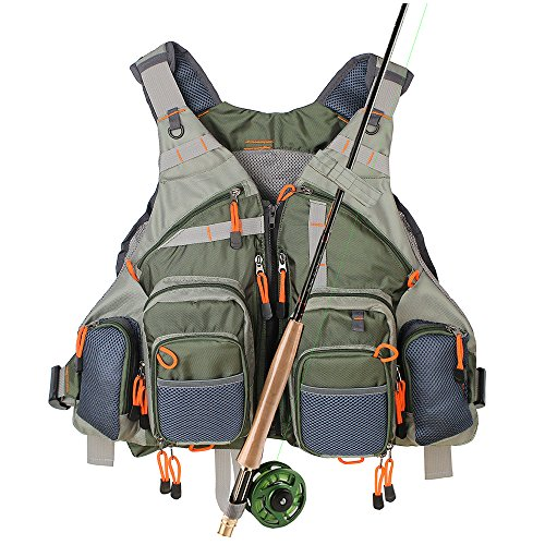 Fishing Vest Mesh for Men and Women(Army Green)