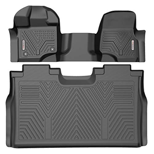 YITAMOTOR Floor Mats Compatible with Ford F150, Custom Fit Floor Liners for 2015-2020 Ford F150 Super Crew Cab with 1st Row Bench Seats, 1st & 2nd Row All Weather Protection