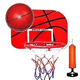 BOXIDO Kid's Basketball Plate Mini Basketball Hoop,Punch-Free Easy to Install,Backboard Basket Hook Indoor Outdoor Basketball Plate Set