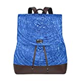 Yuanmeiju Mochila de Cuero Rucksack Water Floral Art Daypack Bags for Girls Boys