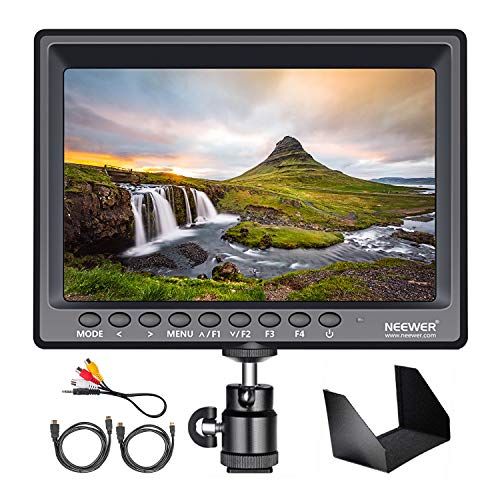 Neewer Film Movie Video Making System Kit with F100 7-inch 1280x800 IPS Screen Field Monitor (Support 4k Input) and Cool Ballhead Arm (Monitor)