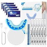 Blanqueador Dental, Nivlan Kit de Blanqueamiento Dental Profesional, con 16 Luces LED, Gel Blanqueador de Dientes Para Manchas de Humo y Dientes Amarillos, Carga USB Magnética
