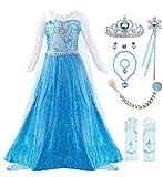 KABETY Filles Princesse Anna Robe Reine des neiges Costume Robe de soirée...
