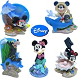 Penn Plax Officially Licensed Classic Disney Aquarium Decorations - 5 Pack Gift Set with Mickey, Minnie, Goofy