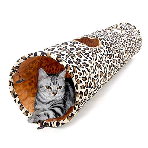 PAWZ-Road-Cat-Toys-Collapsible-Tunnel-Dog-Tube-for-Fat-CatRabbitsDogs-Length-51-Diameter-12