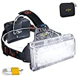 LED Headlamp LETOUR 1800 Lumen Rechargeable Headlamp COB High Bright...