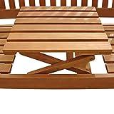 Gartenbank 3-Sitzer Sun Flair, Sitzbank aus Holz mit Klapptisch - 2