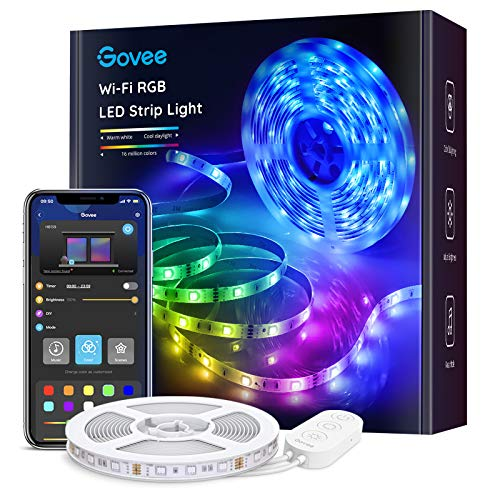 Govee Tiras LED WiFi 5m, Tira Luces LED RGB Inteligente con Control App, Funciona con Alexa y Google Asistente, Modo Música para Habitación