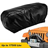 "Seven Sparta Winch Cover Waterproof, Dust-Proof,Universal Winch Protective Cover for Electric Winches Up to 17500 Lbs, 24"" W x 10"" H x 7"" D (Black)"