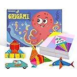 Papier origami coloré Kit 152 papiers origami vifs recto-verso 72 projets 8 Origami...
