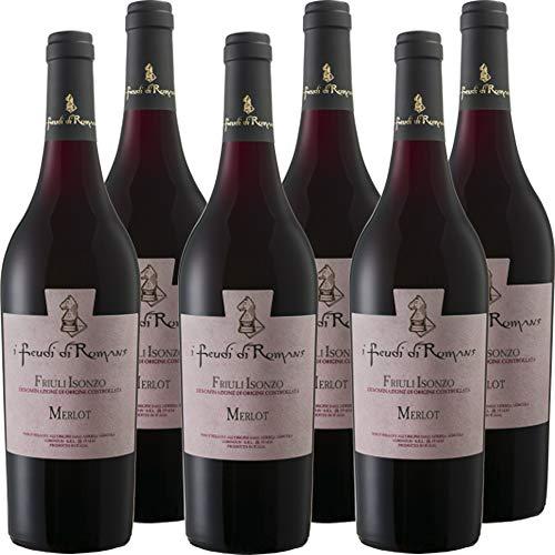 Merlot Doc | Friuli Isonzo | Vino Rosso del Friuli | I Feudi di Romans | 6 Bottiglie 75 Cl | Idea Regalo