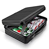 ARGOMAX Portable Cooler Bags, Insulated Slim Cooler, Cooler Bag for Beer, Slim Iceless Cooler, Travel Cooler for Picnic, Hiking, Camping, and Fishing (Black)
