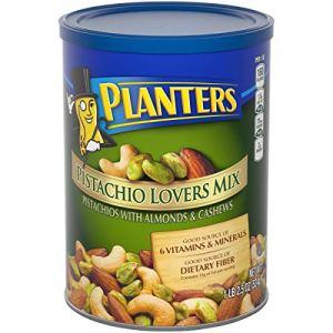 PLANTERS Pistachio Lover's Mix, 1.15 lb. Resealable Canister - Deluxe Pistachio Mix: Pistachios, Almonds & Cashews… 49