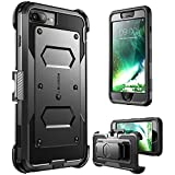 i-Blason [Armorbox] Case for iPhone 8 Plus/iPhone 7 Plus, [Built in Screen Protector] Full Body Heavy Duty Protection Reduction / Bumper Case (Black)