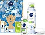NIVEA Love Nature Coffret cadeau avec soin de jour, déodorant et gel douche de la...