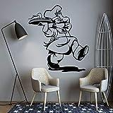 Moda dibujos animados ocupado Chef cocina Pizza pegatina de pared DIY vinilo arte calcomanía hornear habitación restaurante cocina comedor decoración del hogar Mural