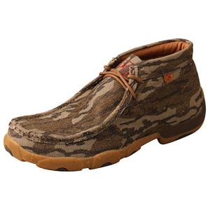 Twisted X Men's Eco TWX Chukka Driving Moc Slip-on Shoes, Mossy Oak Bottomland, 8 M (MDM0082)