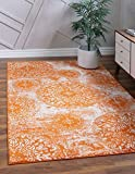 Unique Loom Sofia Collection Traditional Vintage Area Rug, 6' x 9', Orange/Ivory