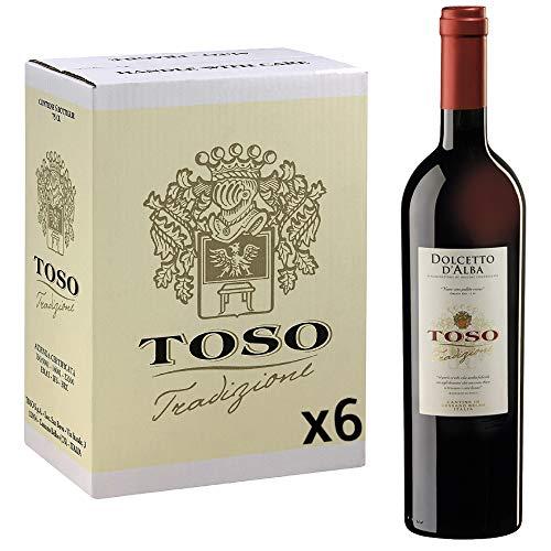Toso S.p.a Toso Vino Rosso Doclcetto D'Alba DOC, Piemonte, 6 bottiglie, 6 x 750ml