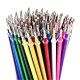 Glitter Gel Pen Refills by Color Technik, Set of 80 Glitter and Neon Glitter, No Duplicates, 40% More Ink than Standard Refills. Large Glitter Refill Set on Amazon, Non-Toxic, Acid-Free, Lead-Free