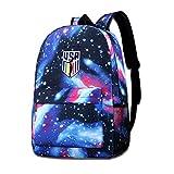 Lawenp Galaxy Backpack Rapinoe Champ Kid's Fashion Mochilas Bolsa para Viajes Escolares Negocios Compras Trabajo