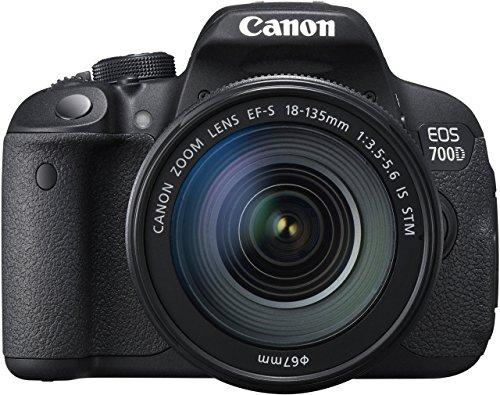 Canon EOS 700D Fotocamera Reflex Digitale, 18 Megapixel, con Obiettivo EF-S 18-135mm IS STM, Nero (Ricondizionato Certificato)