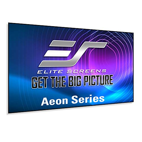 Elite Screens Aeon Series, 120-inch 16:9, 8K / 4K Ultra HD Home Theater Fixed Frame EDGE FREE Borderless Projector Screen, CineWhite UHD-B Front Projection Screen, AR120WH2
