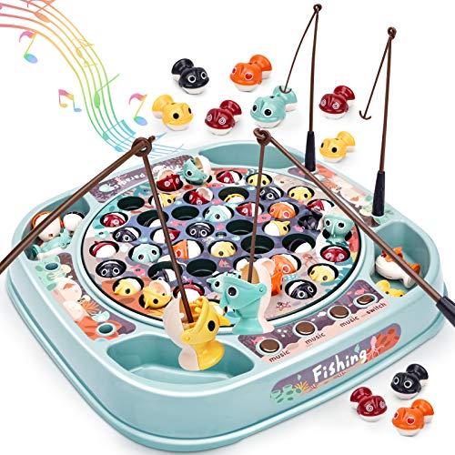 Dreamon Pesca Pesciolini Gioco per Bambini Musica Pesce Multicolore Giocattoli Giochi da Societa Educativi Regalo per Ragazzo Ragazza
