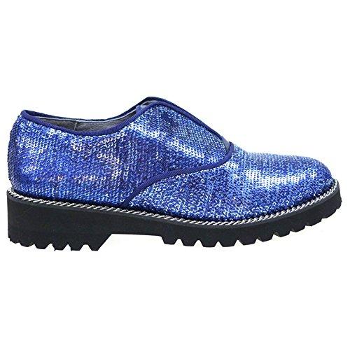 Zapatos Mujer Blucher Cordon Oxford Kanna Ki5641 Azul 36