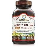 Nutrigold Food-Sourced Vitamin D3 5000 IU, 120 Capsules (Natural Vitamin D from Lichen, Certified Vegan, Kosher, Non-GMO)