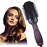 Dekugaa Hair Dryer Brush, Hot Air Brush, Hair Dryer & Volumizer 3 in 1 Upgrade Feature Anti-scald Negative Ion Hair Straightener Brush with Smooth Frizz and Ionic Technology