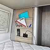K´Foam Organiseur de Poche Mural pour Camping-Car et Caravane, avec Velcro et Autocollant en Vison