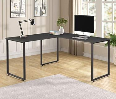 L-Shaped Office Desk Workstation Computer Desk Corner Desk Home Office Wood Laptop Table Study Desks