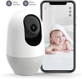 Nooie Baby Monitor, WiFi Pet Camera Indoor, 360-degree Wireless IP Nanny Camera, 1080P..