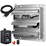 iPower 7 Inch Shutter Exhaust Fan Aluminum with Speed Controller and Power Cord Kit ,High Speed,...
