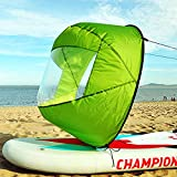 Idefair Downwind Sail,Kayak Wind Sail Canoe Downwind Sails Foldable Paddle Instant Sail Kit Rowing Boat Sail with Clear Window Kayak Canoe Accessories for Kayak Canes Inflatable Boats